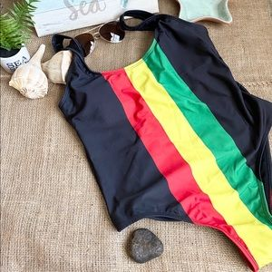 Swimsuit Rasta One Piece Beach Summer Bikini